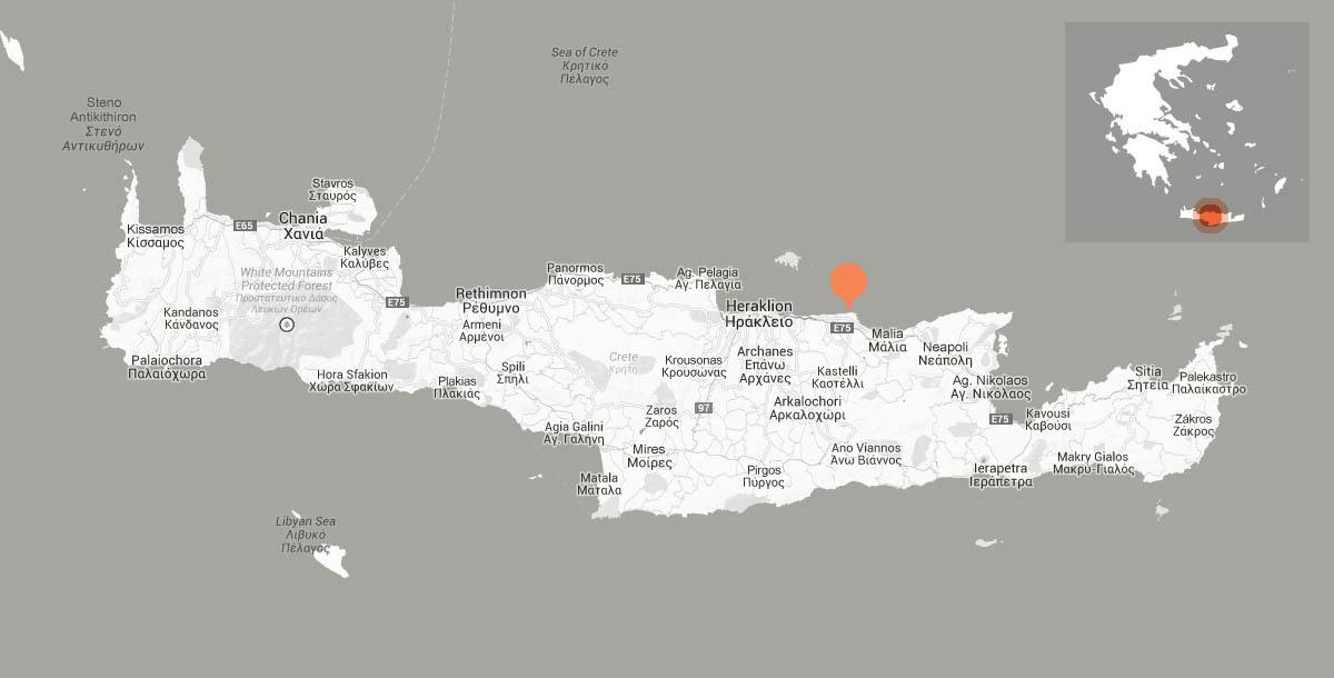 Location Anissaras Crete island Greece Serita Beach Hotel in
